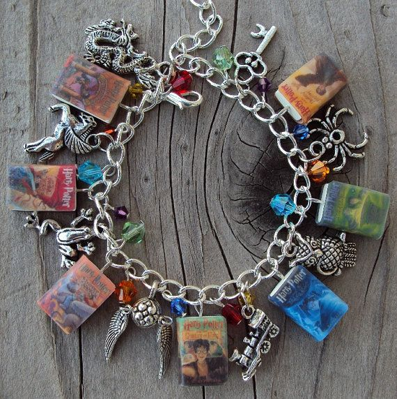 ADULT SIZE HarryPottter Books Fringe Charm by sophiesbeads on Etsy, $48.99Adult Size, Charm Bracelets, Book Fringes, Harry Potter Bracelet, Fringes Charms, Charms Bracelets, Potter Charms, Friendship Bracelets, Harry Potter Book
