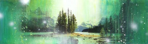 """Steven Nederveen GREAT ESCAPE / Canada House Gallery - mixed media, resin, panel 18"""" x 60"""""""