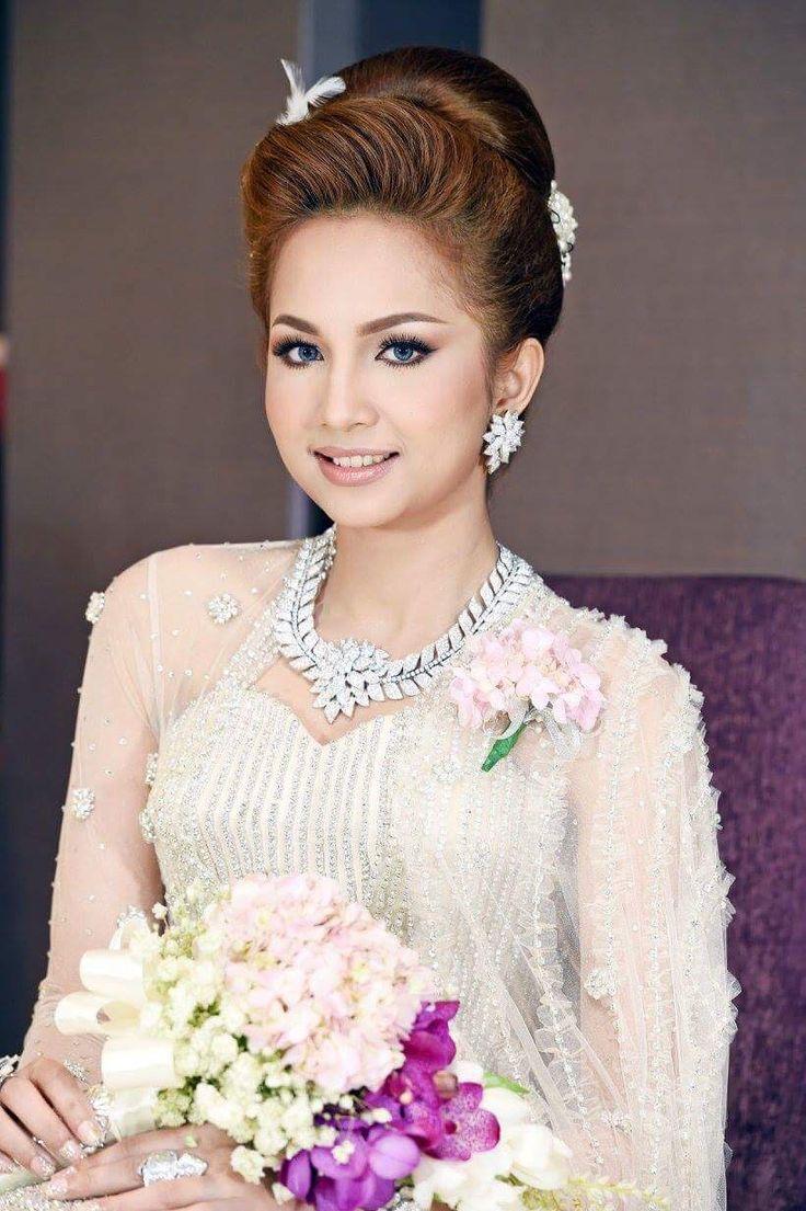 372 best myanmar dress images on Pinterest | Bridal dresses ...
