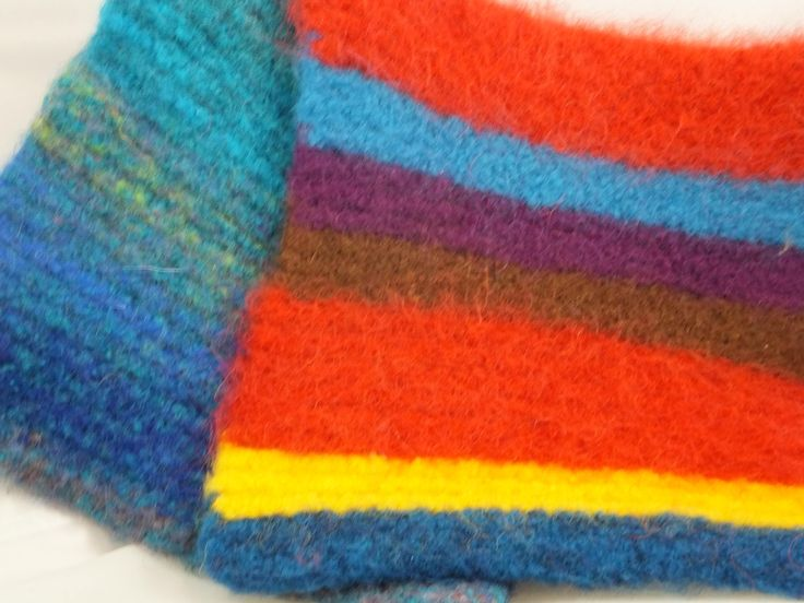 Burst of Color in a Tropical Storm Wool Felted Hot Pads/Trivets, Hand Knitted, Kitchen Decor, Soft & Thick, Colorful, Hostess Gifts, by timetalentjewels on Etsy