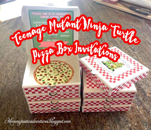 Teenage Mutant Ninja Turtle Pizza Box Invitation The Mommytastic Adventures