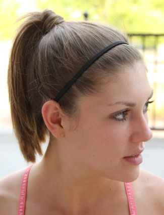 A Pretty Headband Dress up a boring ponytail with a simple headband. Go with black or add fun color to jazz it up a bit.
