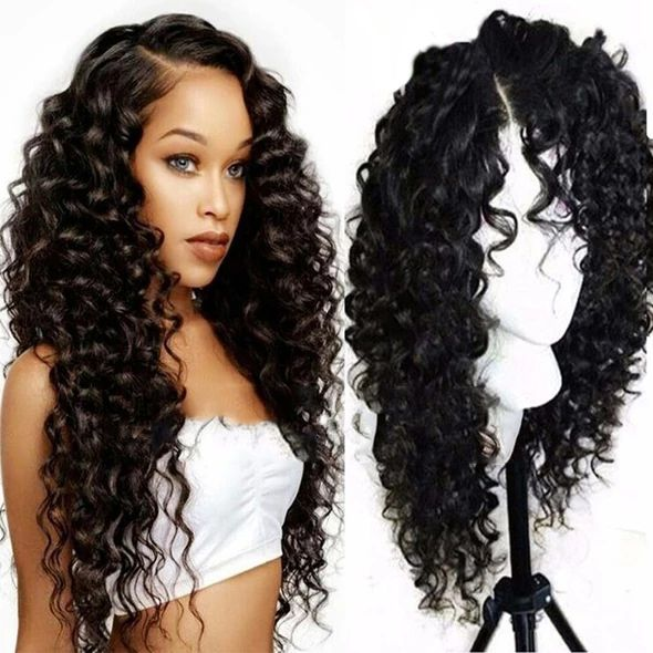 Hair 4 Bundles Brazilian Deep Wave Hair Weft With Lace Frontal Closure
