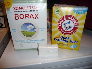 Homade laundry detergent add some Downy Unstopples..... Clothes smell fresh......