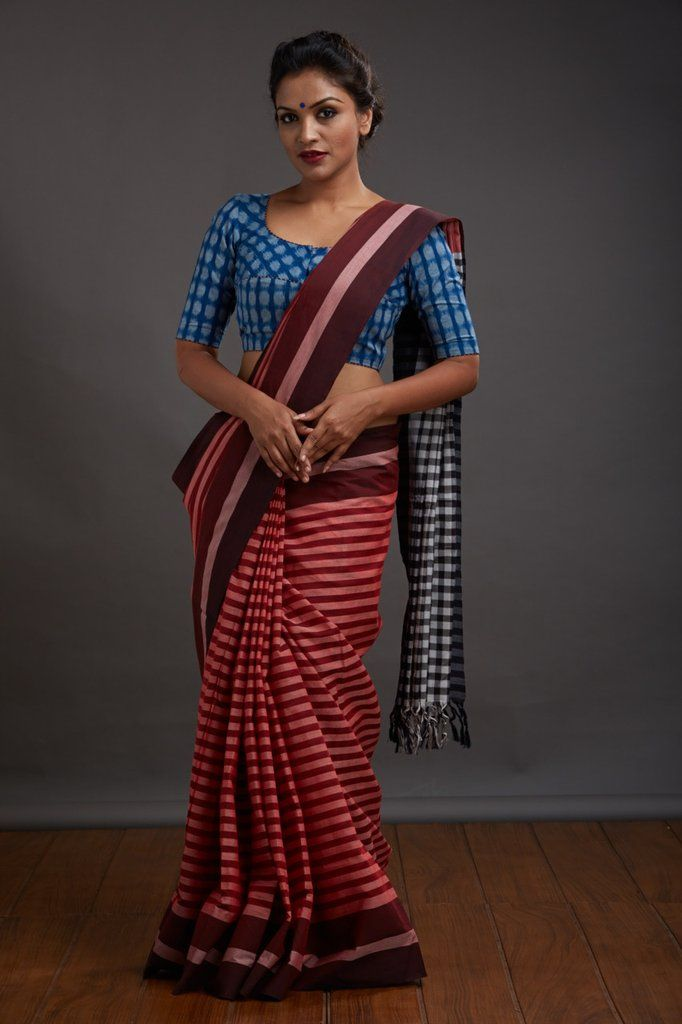 Chuvappu Vara Kaithari Saree