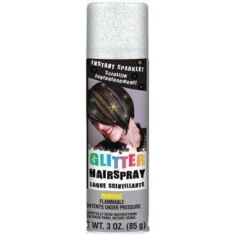 Amscan Glitter Hair Spray 3oz-Silver - silver
