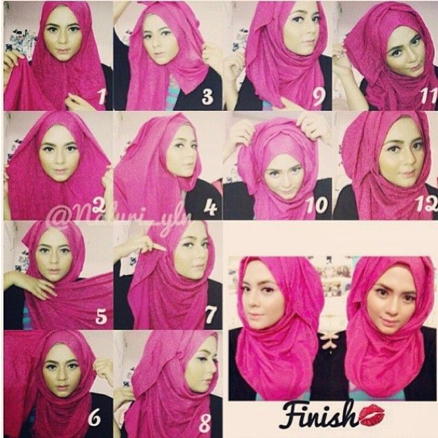 If you're a lover of folds, this step by step hijab tutorial is your fit, it shows how to create folds perfectly and easily, I remember one day a friend of mine asked me whether I was wearing 2 scarves…