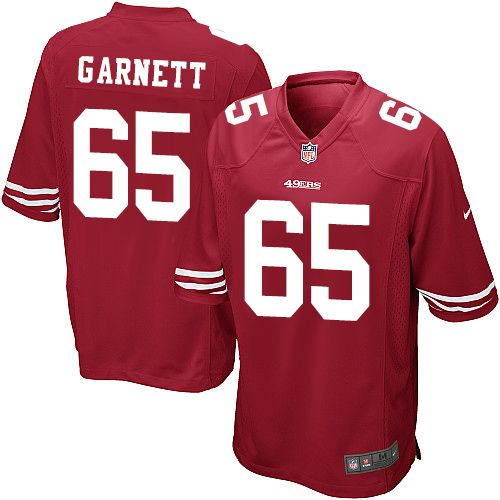 $24.99 Men's Nike San Francisco 49ers #65 Joshua Garnett Game Red Team Color NFL Jersey