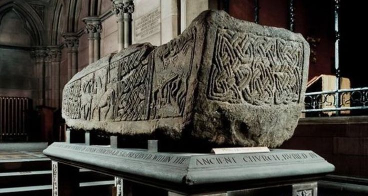 The @GovanStones are a collection of 31 half-ton grave stones, hogback stones and a sarcophagus thought to contain the relics of St. Constantine, the son of Pictish king Kenneth MacAlpin, who died fighting Vikings.