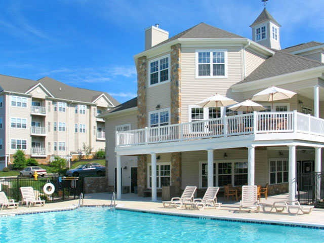 Amazing Sun Drenched Swimming Pool At Saucon View Apartments.