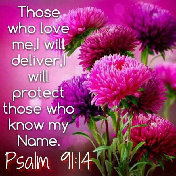 Psalm 91:14 Bible Verses Pinterest The philippines, Other and ...