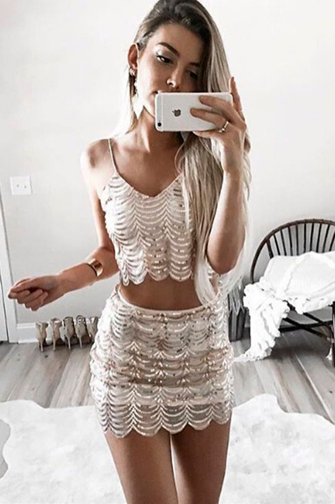 Sequin Two Piece Set
