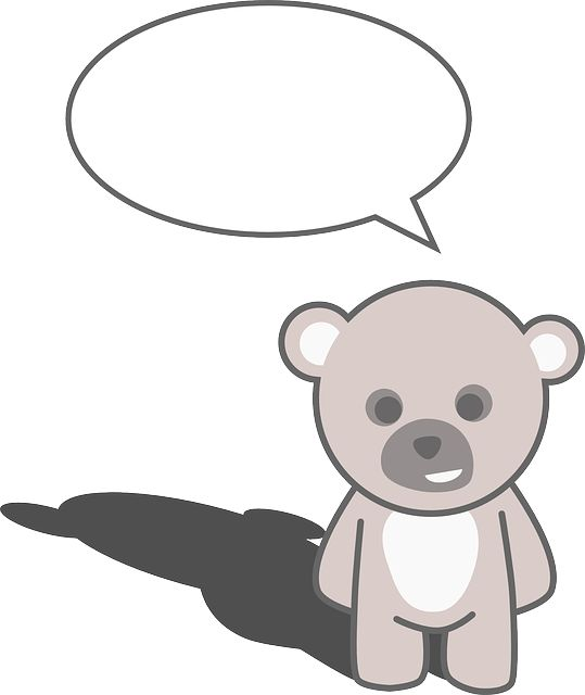 Teddy Bear with Text Bubble