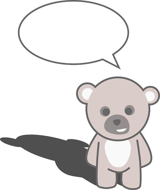 Teddy Bear with Text Bubble