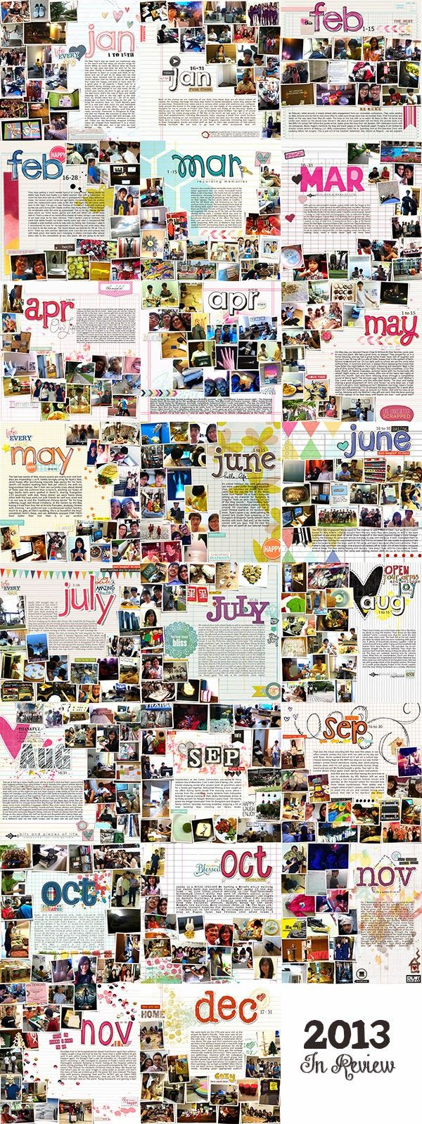Scrapbook ideas engagement - Year In Review