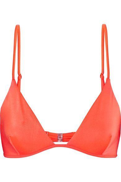 Melissa Odabash - Bali Triangle Bikini Top - Bright orange - UK12