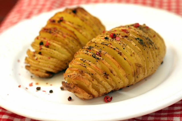 igloo cooking: Patatas HASSELBACK