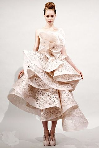 Funky bridal gown