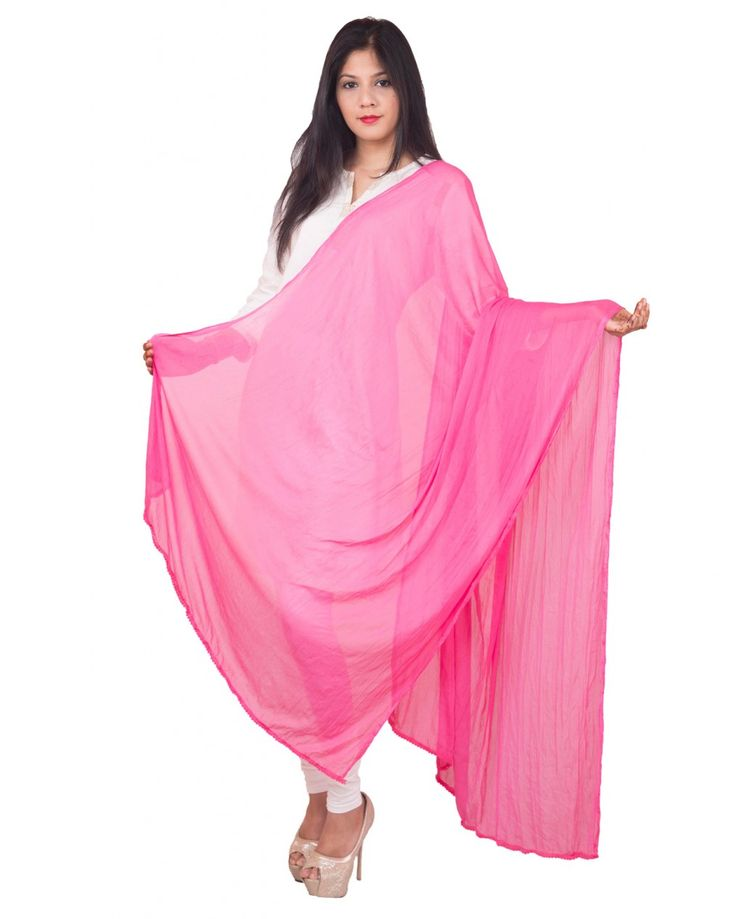Pink Color  Soft Chiffon Dupatta