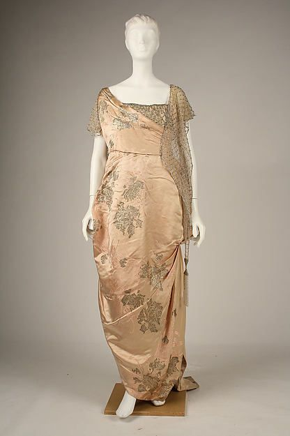 Evening dress Design House: House of Worth  (French, 1858–1956) Date: 1914 Culture: French Medium: silk