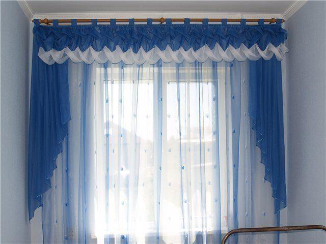 Cortinas drapeada imagui for Cortinas sencillas para salon