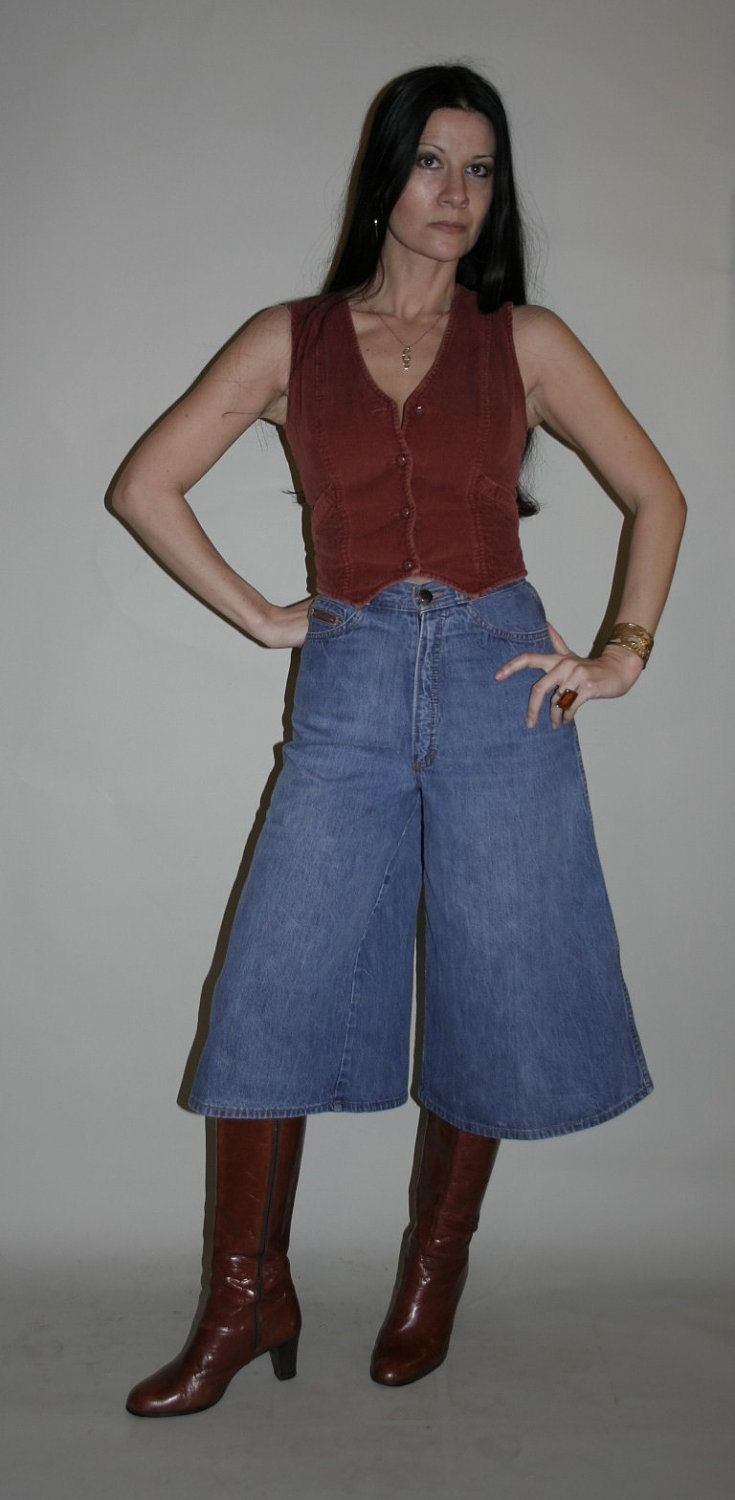 I wore gauchos in the '70s, and I had a pair of boots exactly like these. I wore the boots long after the gauchos were out of style.