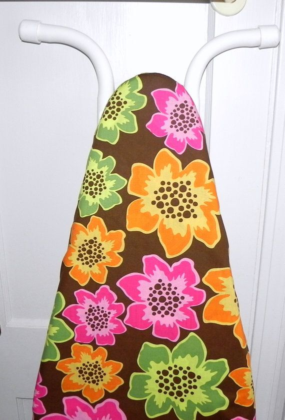 Ironing Board Cover   Orange pink and green by GaranceCouture