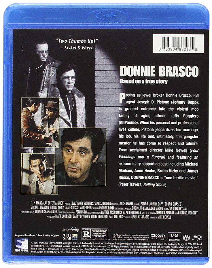 Donnie Brasco #DonnieBrasco #Cine #Mafia #CosaNostra #AlPacino #JohnnyDeep