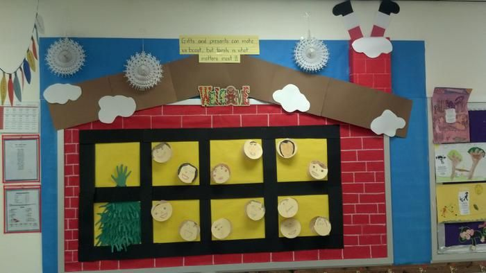 Family Is What Matters Most! - Christmas Bulletin Board window