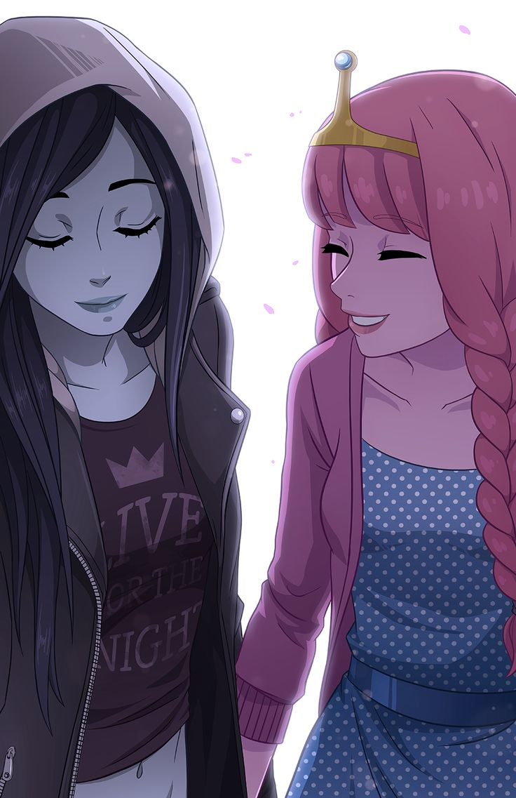 Marceline and Princess Bubblegum.  I always thought these two had an interesting dynamic. It must be tough being friends for, like, 1000 yea...