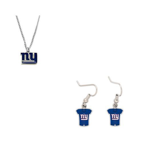 New York Giants Logo Necklace and Jersey Earrings