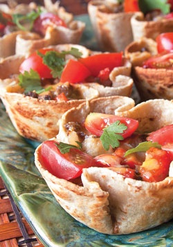 Taco Cups-replace ground beef with veggie ground.