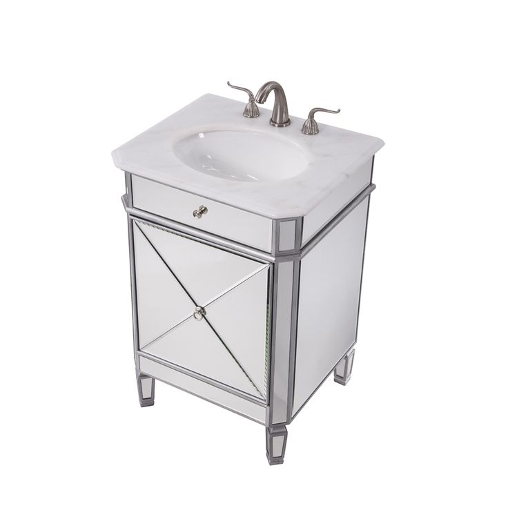 Pic On Shop Elegant Decor VF Camille Single Narrow Bathroom Vanity at The Mine Browse