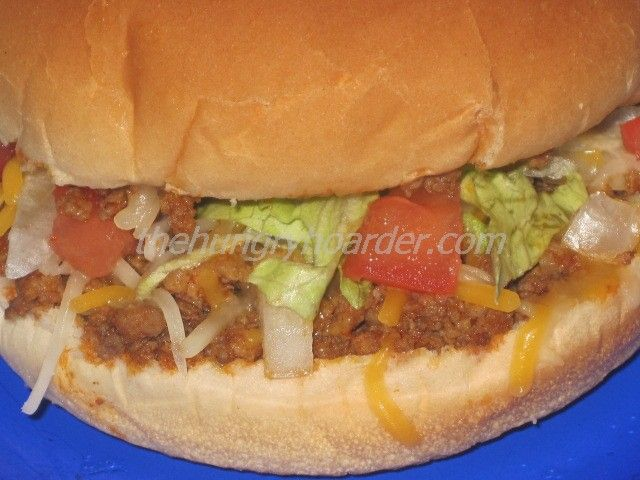 Taco Burgers - Alternate twist to a taco, the steamed bun makes it even better.