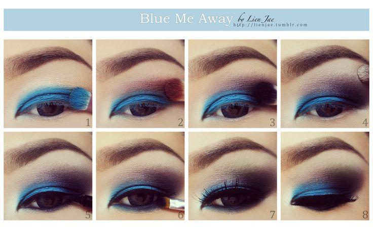 blue eye makeup for brown eyes tutorial