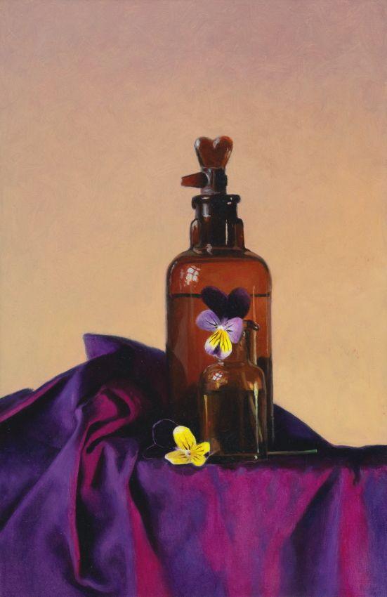 "Realistic painting in oilpaint. Stillife ""Violets"" www.nataschavandenberg.com"