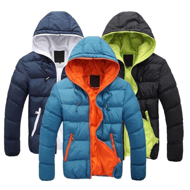 42.78$  Watch more here  - Down Coat Winter Jacket Men Casual Warm Coat Outerwear Parka Jacket 5 Color Plus Size Down Jacket Men Brand Clothing MT077