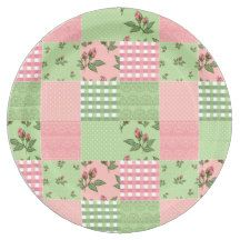 Pink and Green Patchwork Quilt Pattern 9 Inch Paper Plate  sc 1 st  Pinterest & 45 best Paper Plates \u0026 Paper Napkins images on Pinterest | Paper ...