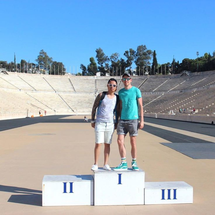 At the site of the first modern Olympic Games, Athens Greece. This was an interesting site to explore and featured a display of the Olympic torches over the years. . . . . . . . . . . . . . . . . . . . . . #travel #athens #greece #athensgreece #olympicgames #olympicstadium #vans #vansshoes #instagay #traveleurope #cruise #cruisevacation #traveleurope #travelgay #gaytravel #gaycouple http://tipsrazzi.com/ipost/1521087179793912539/?code=BUb_LsgBFLb