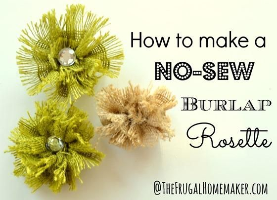 DIY Tutorial: Burlap Flowers / DIY NO-sew Burlap Rosette Tutorial - Bead&Cord