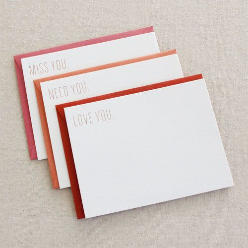 Paper Goods - Valentine's Day - Gold Foil Stamped Cards by Seesaw Letterpress