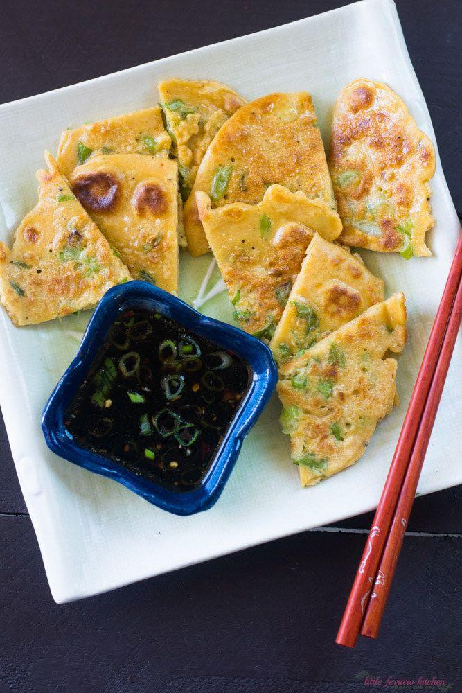 Pajeon (Korean Scallion Pancake) - The Little Ferraro Kitchen