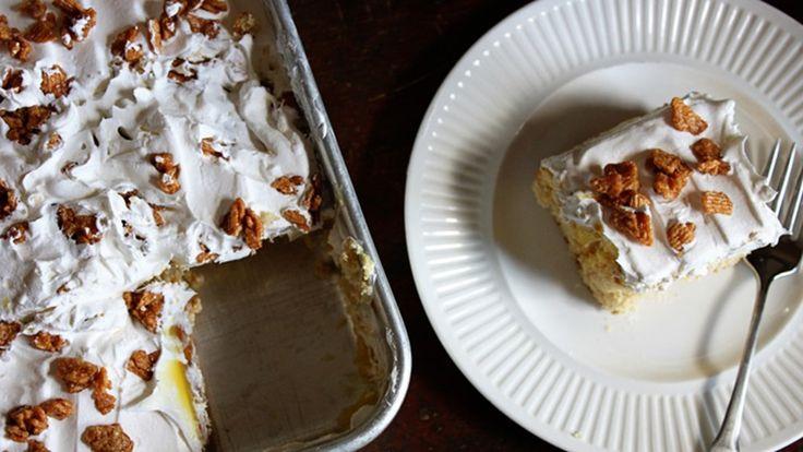 Cinnamon toast crunch poke cake cinnamon toast crunch