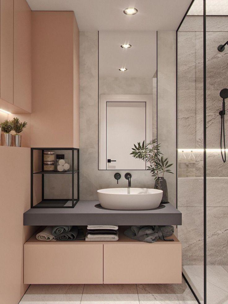Es gibt kein Hausdesign, das hier durchgeht, und es gibt keine erstaunliche Badezimmeridee, die mit einer schönen modernen Eiteli …