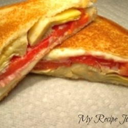 Antipasto Grilled Cheese Sandwich | Grilled Cheese | Pinterest