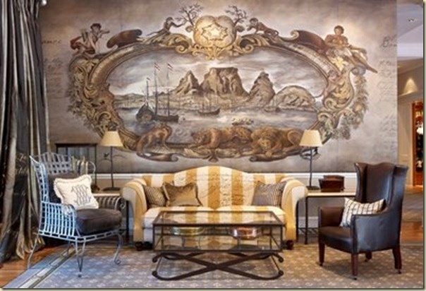 Cape Grace lobby - always been a sucker for a wall mural