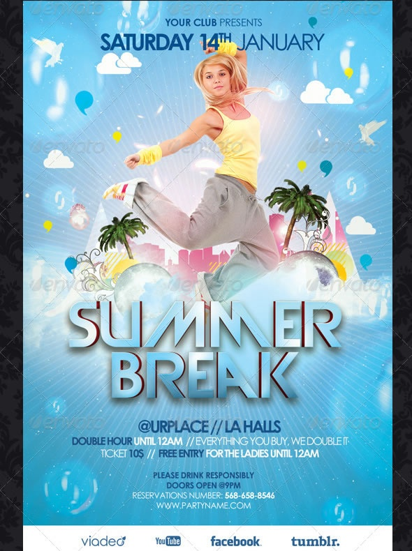 13 best summer images on Pinterest Advertising, Ad design and - party flyer