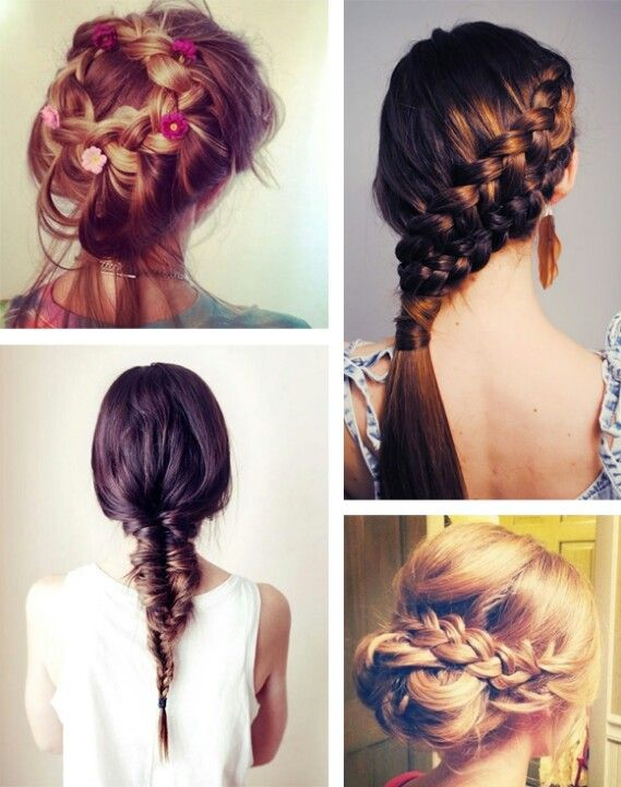 Summer Festivals = festival braids! when I want to try one ...