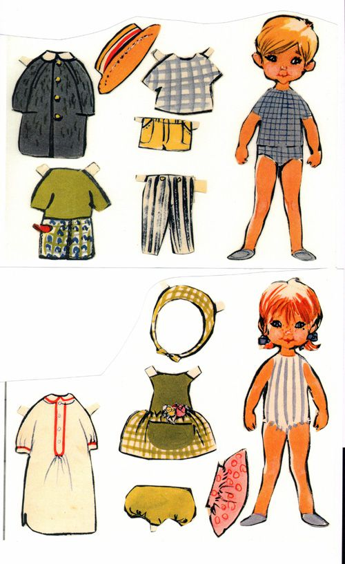Free Danish Boy and Girl Paper Dolls With 2 Dolls and 2 Pages of Clothing