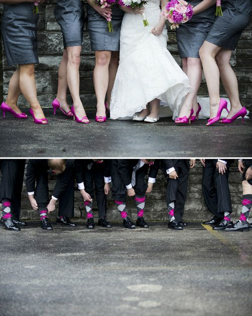 The Guys Will Have Pink Socks Real Wedding Dawn Matt Photo Credit Jbe Photography